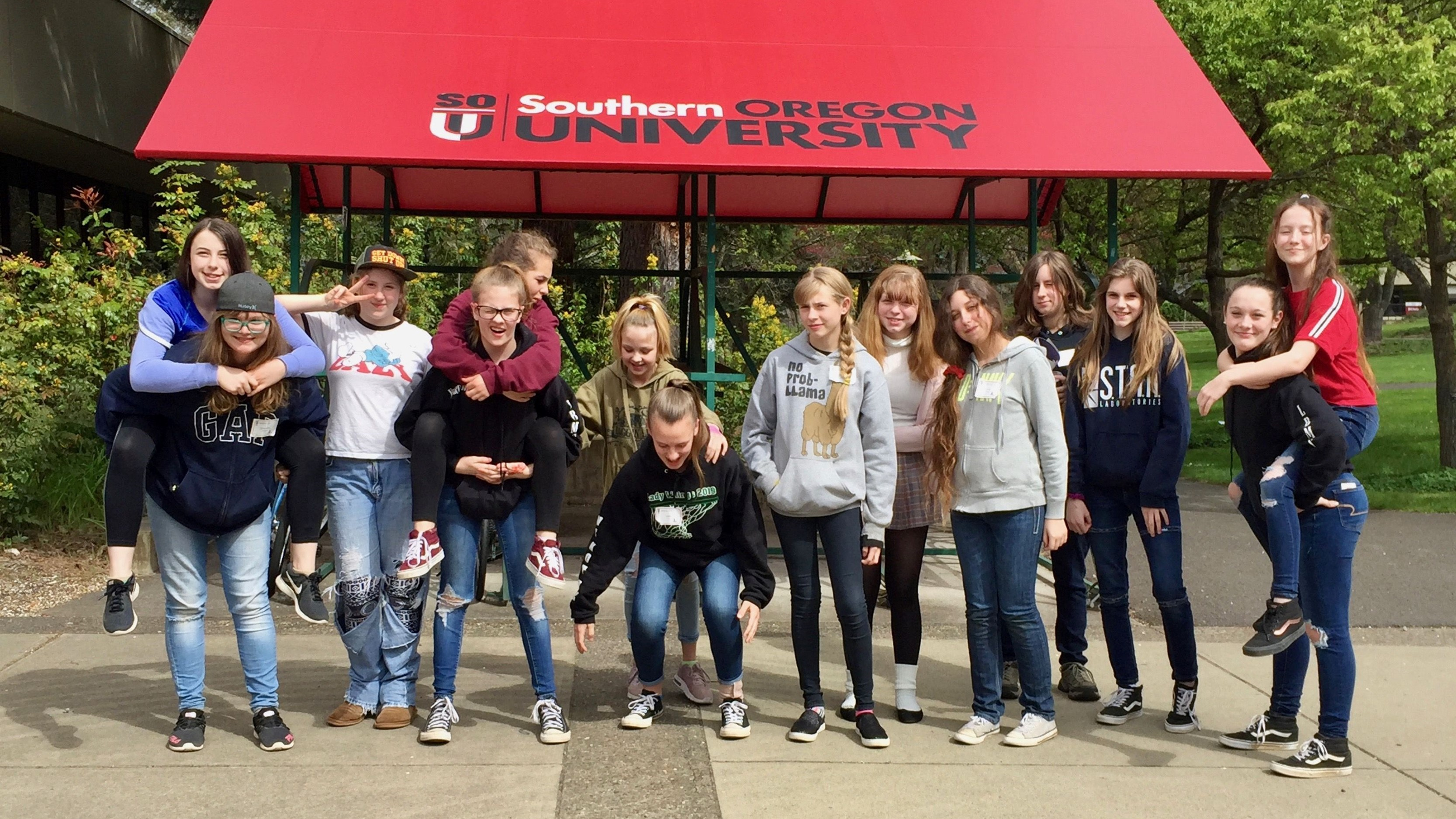 Illinois Valley students at Southern Oregon University