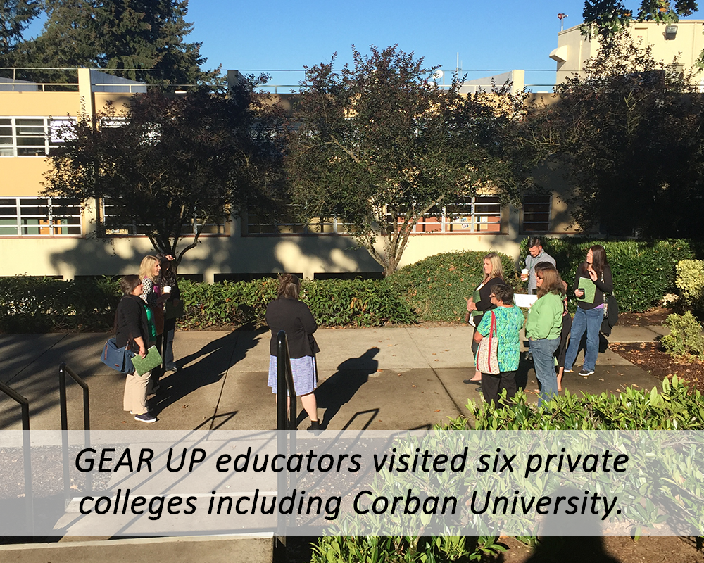 Educator visit to Corban