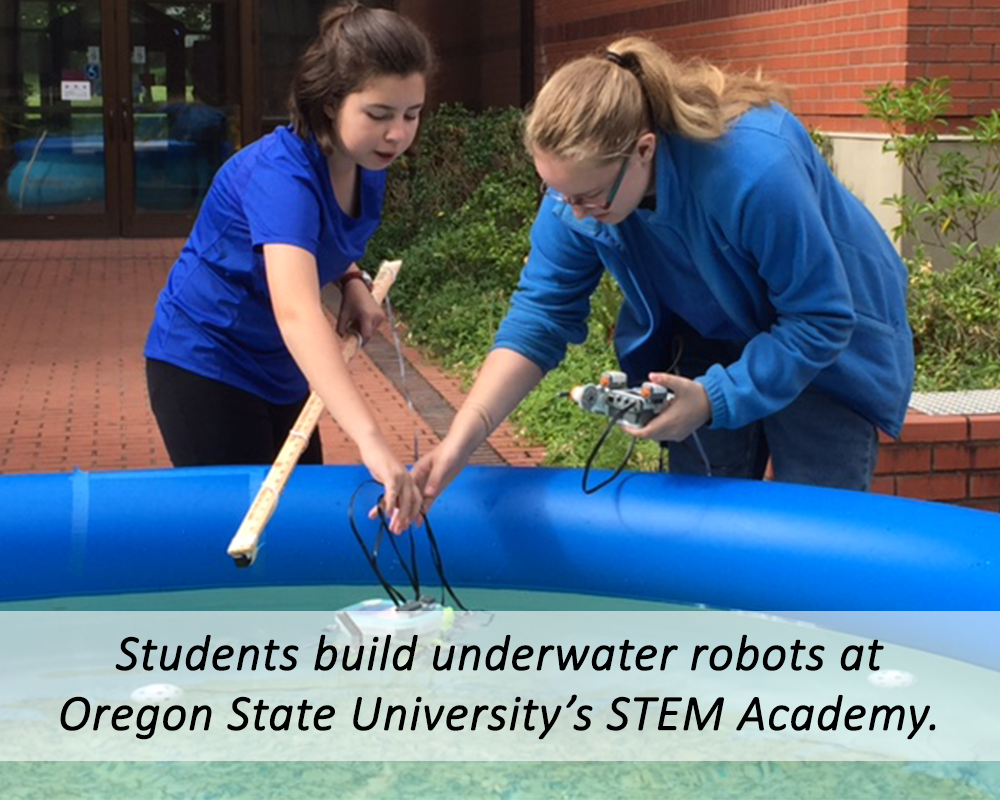 Underwater robots at STEM Academy